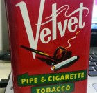 SOLD!  Vintage Liggett & Myers VELVET Pipe & Cigarette Tobacco Tin Can 1.5 oz