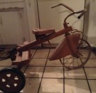 SOLD! Vintage childs Tricycle Art Deco Streamline Red