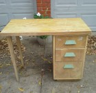 SOLD! Vintage Retro desk Mid Century Great project piece – $35