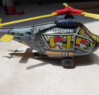 Colorful Vintage Tin Wind-Up Apache Helicopter Korea